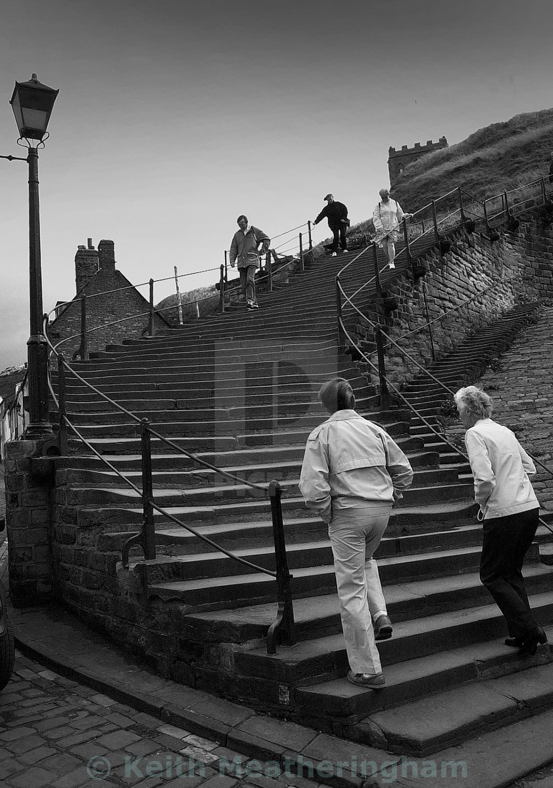 """Whitby's famous 199 Steps"" stock image"