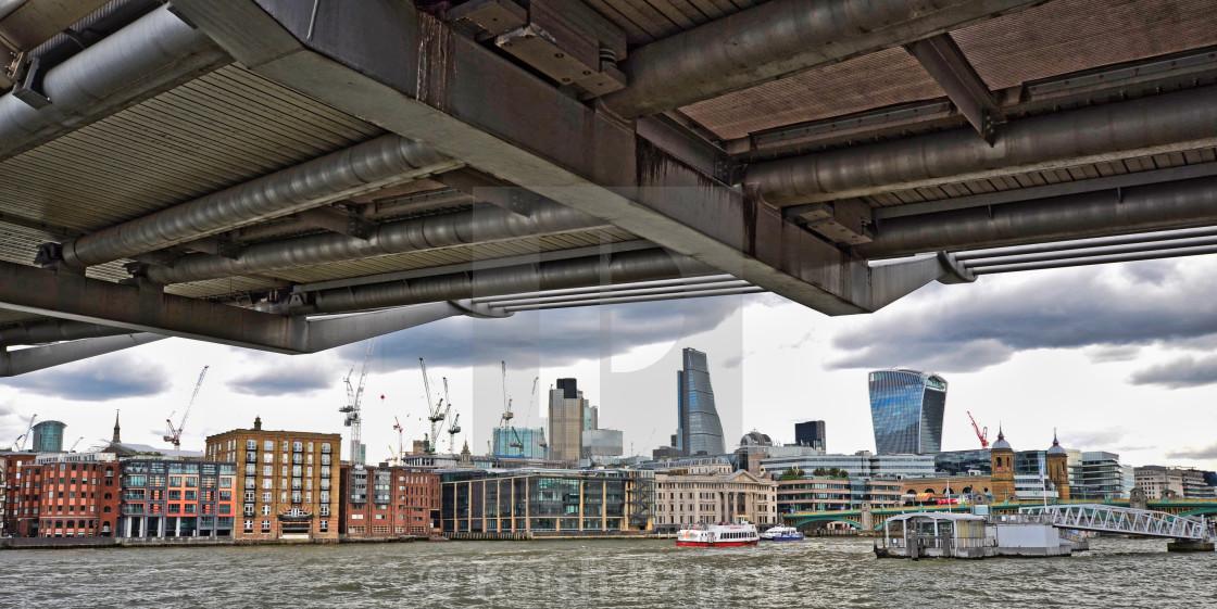 London Cityscape From Underneath Lambeth Bridge