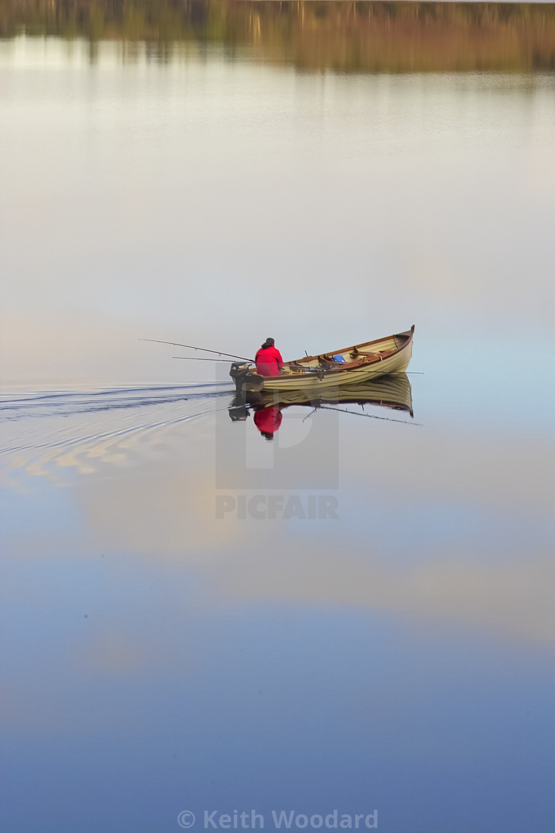 Fishing boat on a Lake co Kerry Ireland - License, download