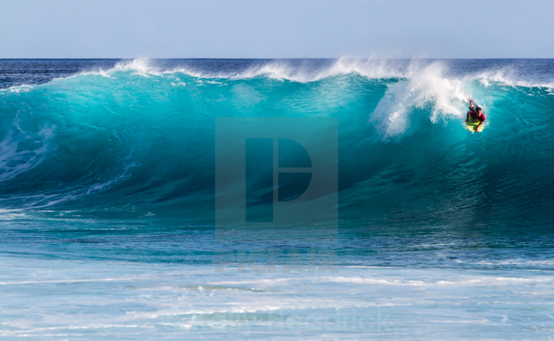 """Bodyboarding in Hawaii"" stock image"