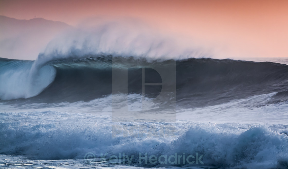 """Sunset Wave"" stock image"