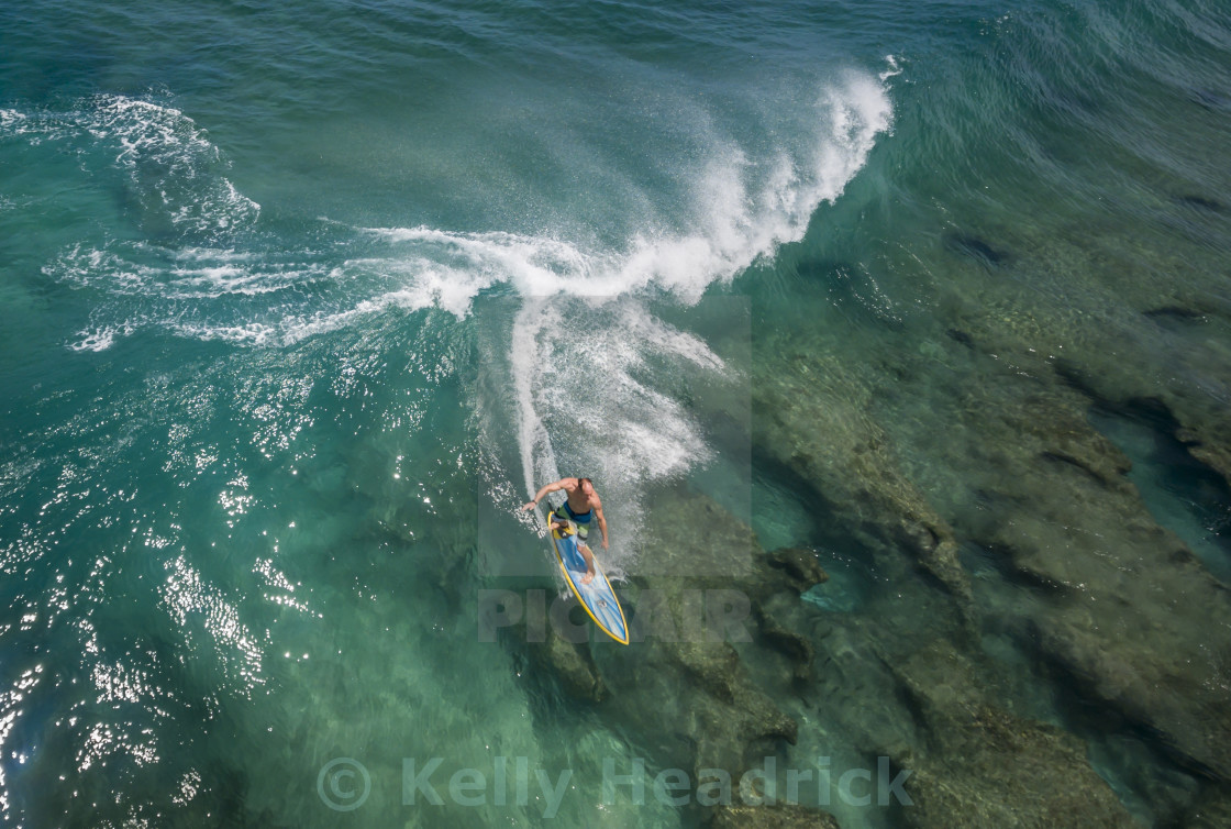 """Aerial surf view"" stock image"