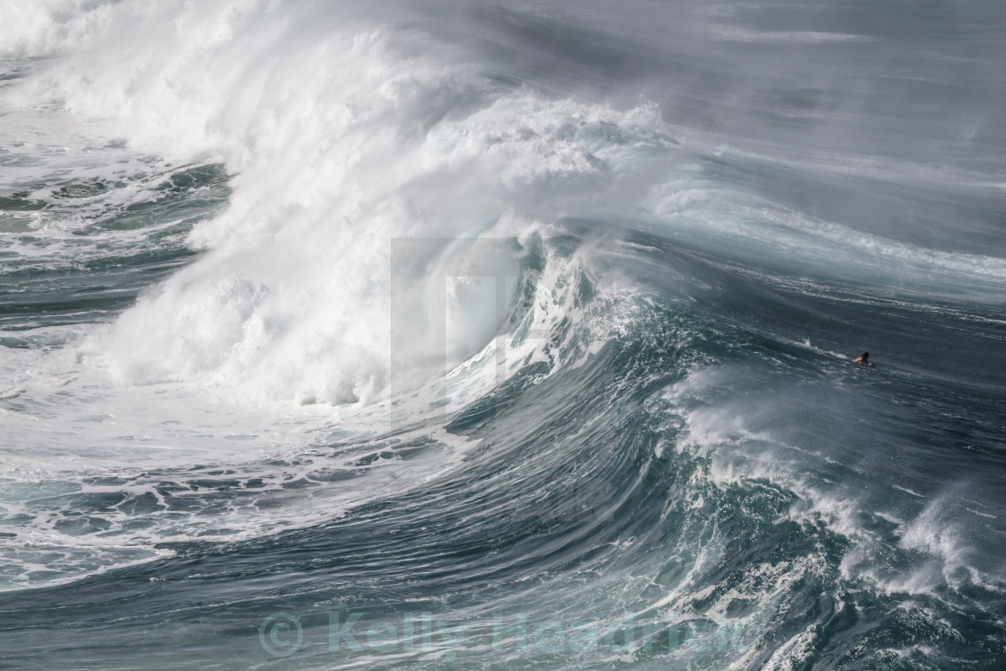 """Big wave surfer"" stock image"