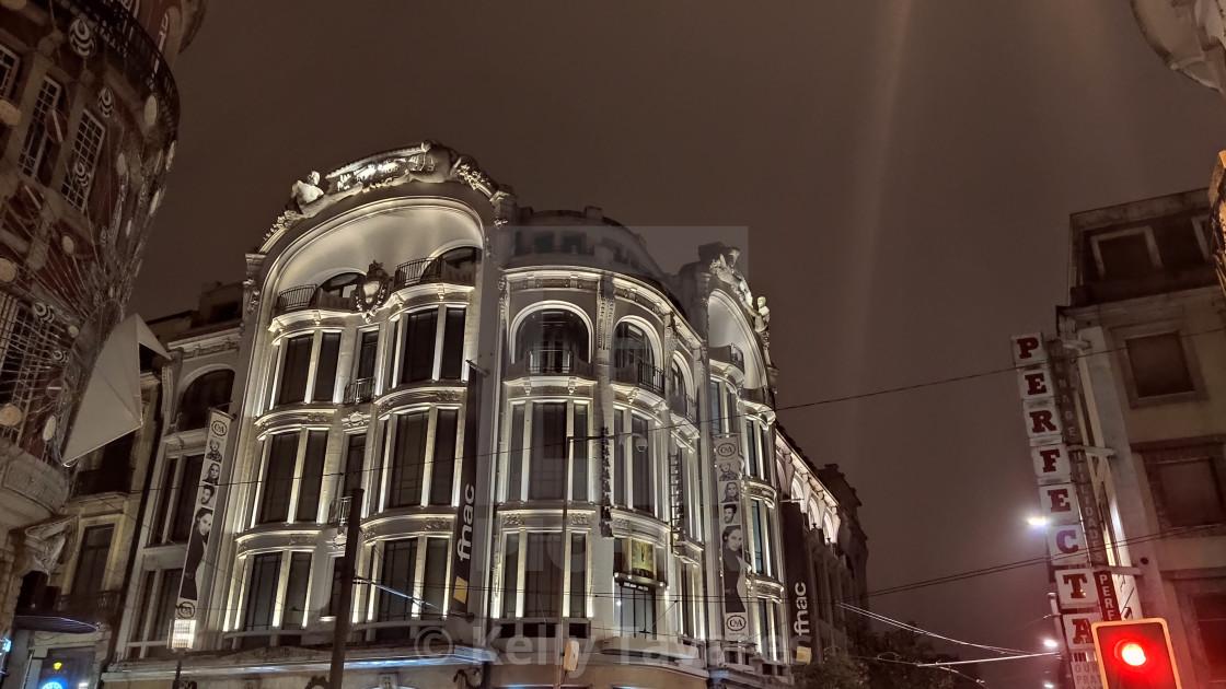 """""""Porto by Night"""" stock image"""