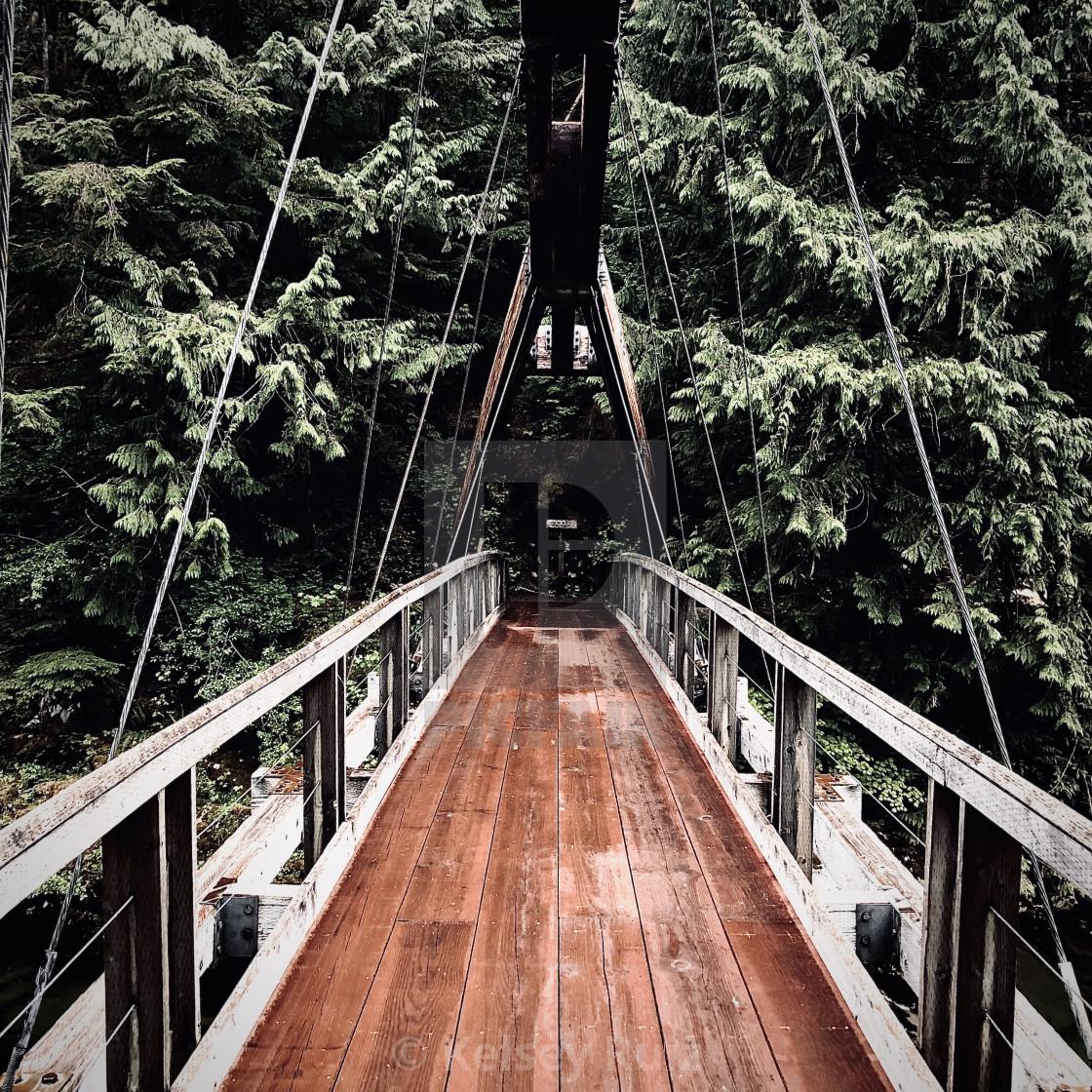 """Wooden Bridge"" stock image"