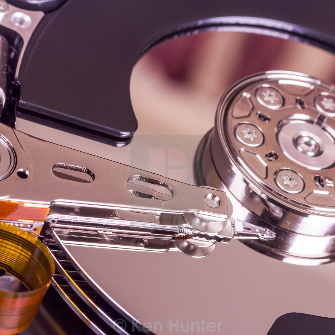"""""""Hard disk drive internal components"""" stock image"""