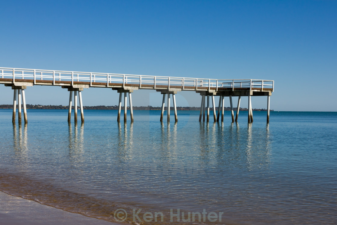 """""""Lonely pier"""" stock image"""