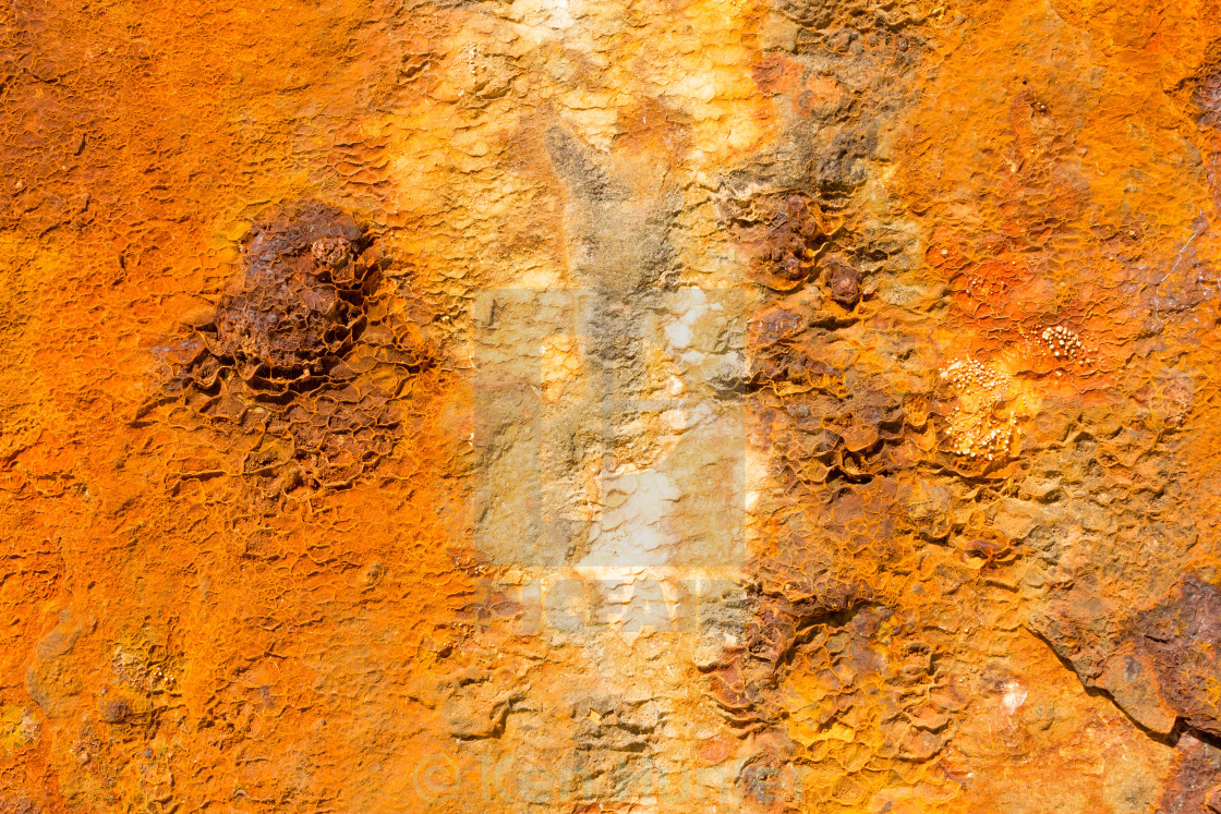 """Closeup of rusted panel"" stock image"