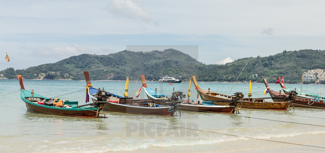 """Longtail Boats"" stock image"