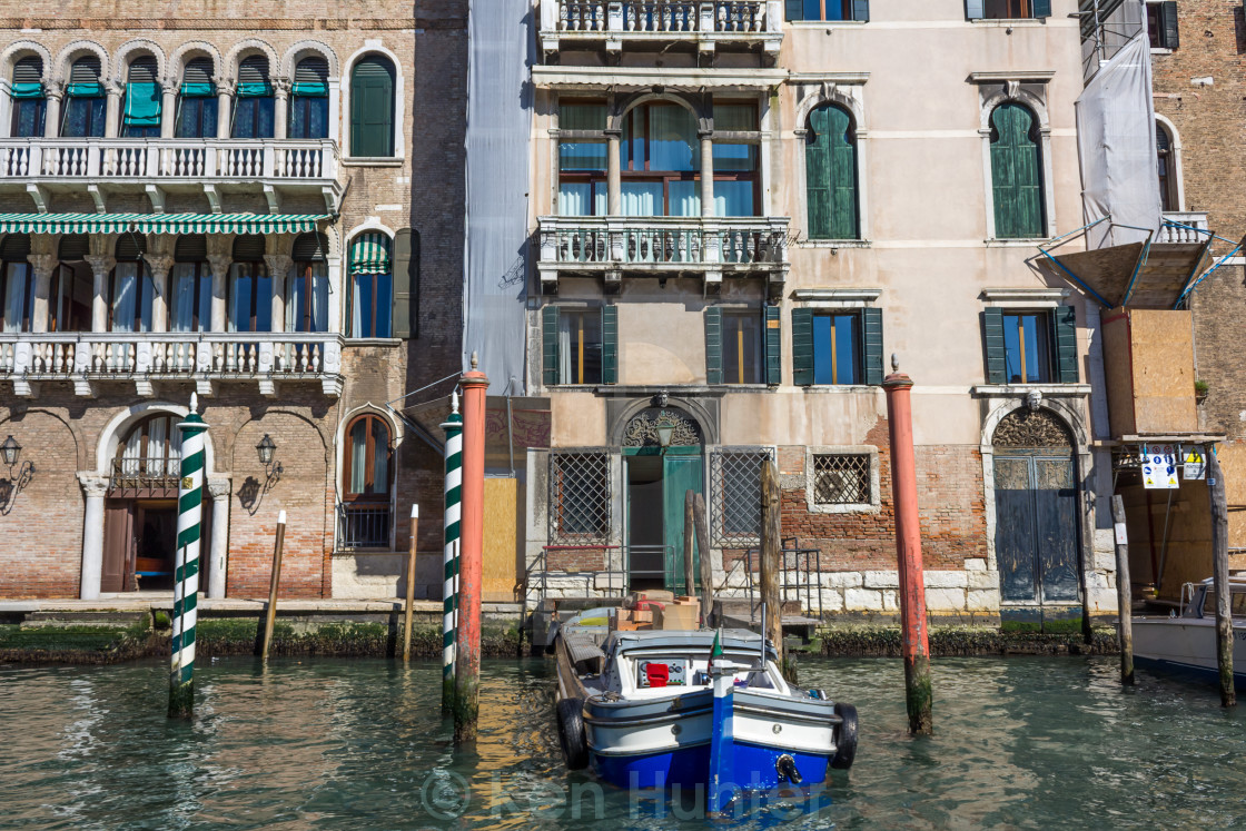 """Venice Workboat"" stock image"