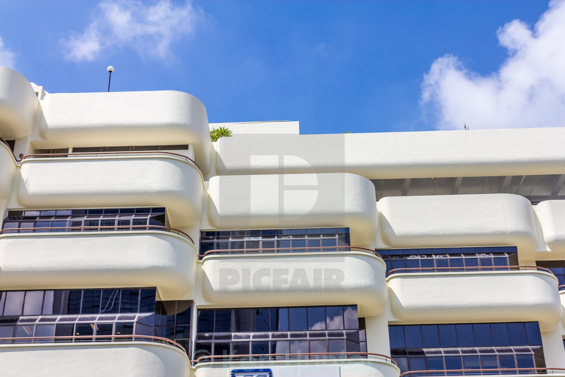 """Apartment building balconies."" stock image"