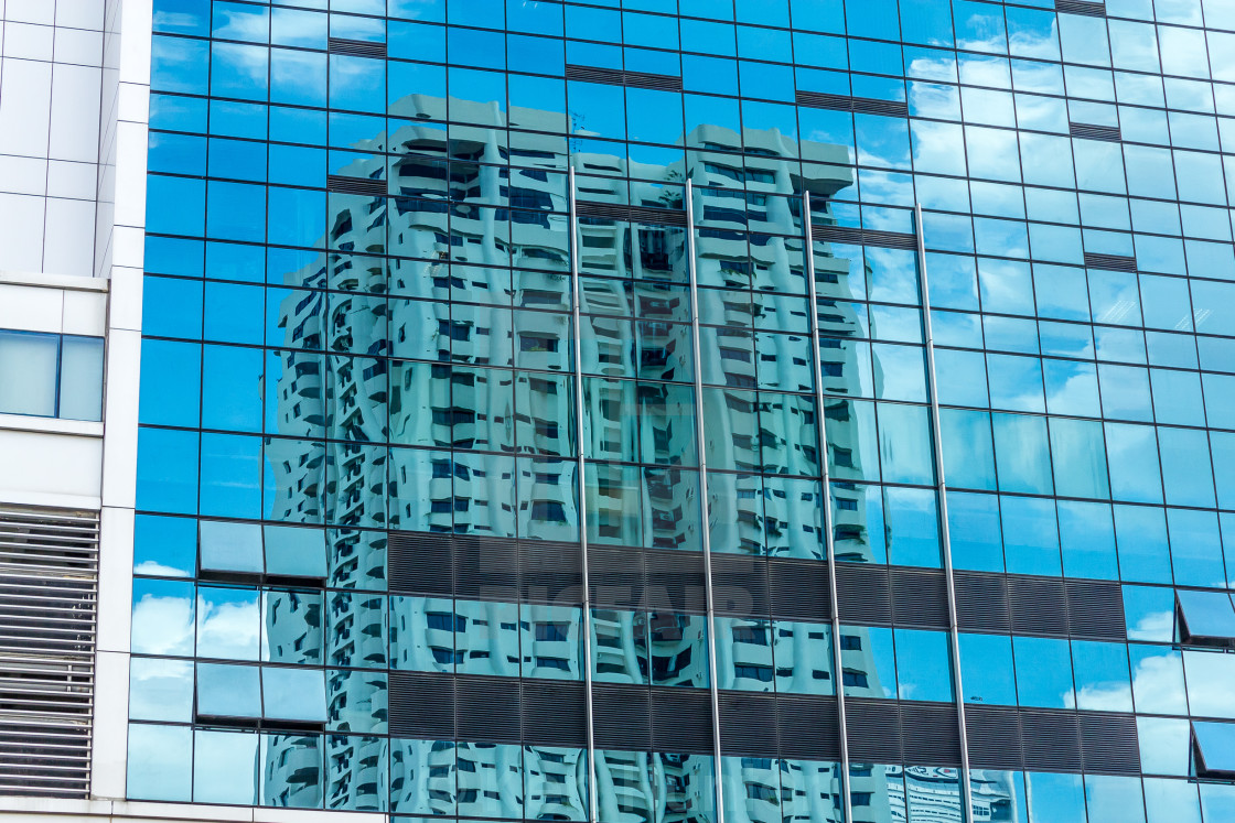 """Building reflection"" stock image"