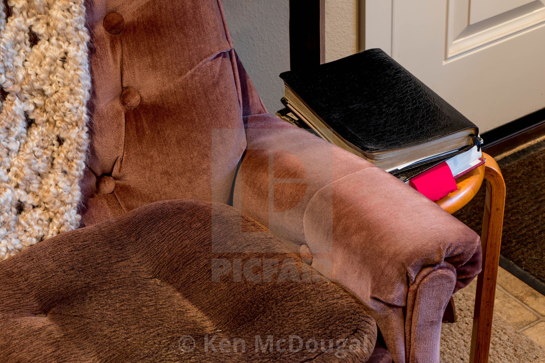 """""""Chair and Bible"""" stock image"""