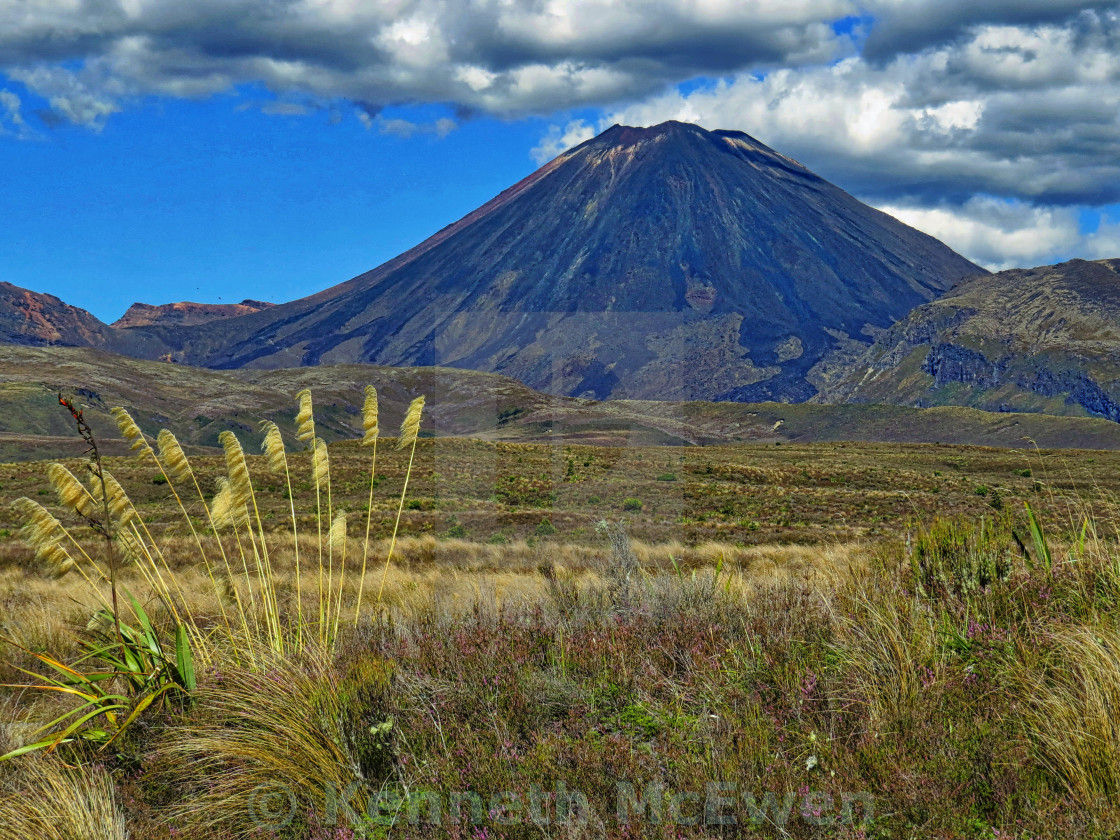 """Mt Ngauruhoe, New Zealand"" stock image"