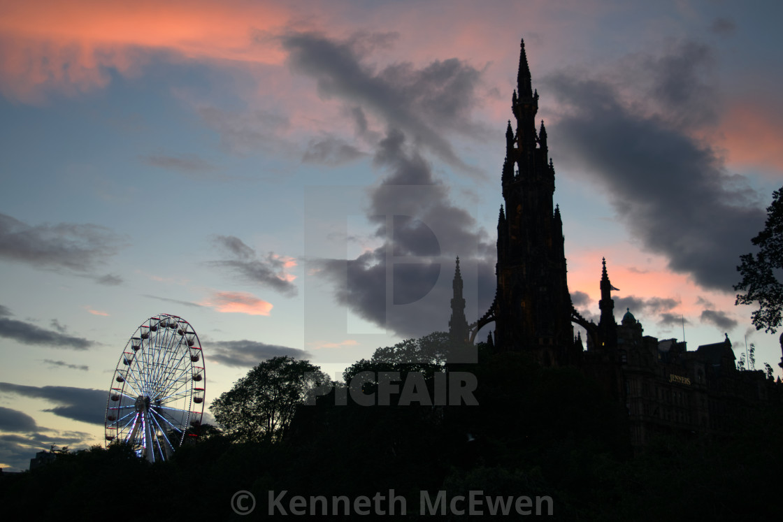 """Scott Monument in Edinburgh"" stock image"