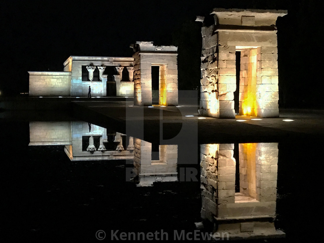 """Temple of Debod"" stock image"
