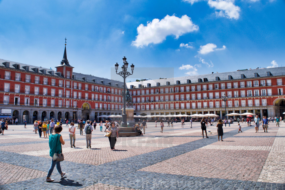 """Plaza Mayor, Madrid"" stock image"
