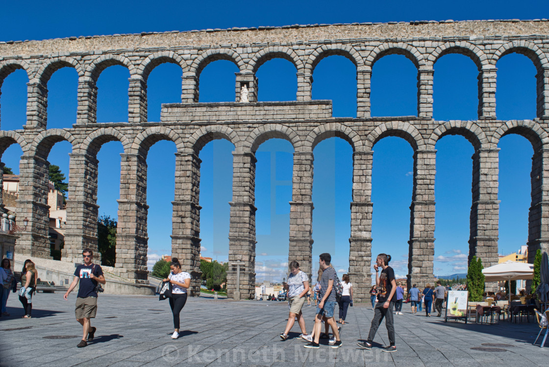 """Aqueduct of Segovia"" stock image"