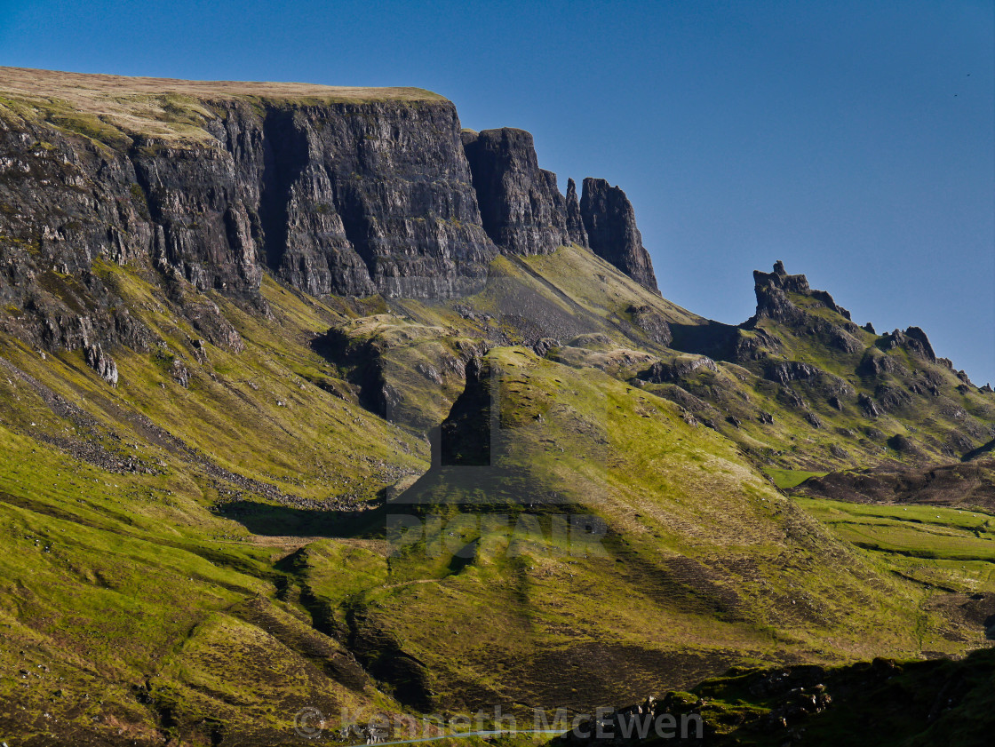 """The Quirang, Isle of Skye"" stock image"