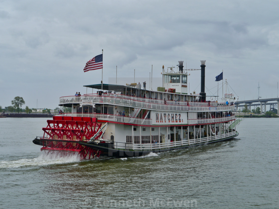 """Natchez steam boat in New Orleans"" stock image"
