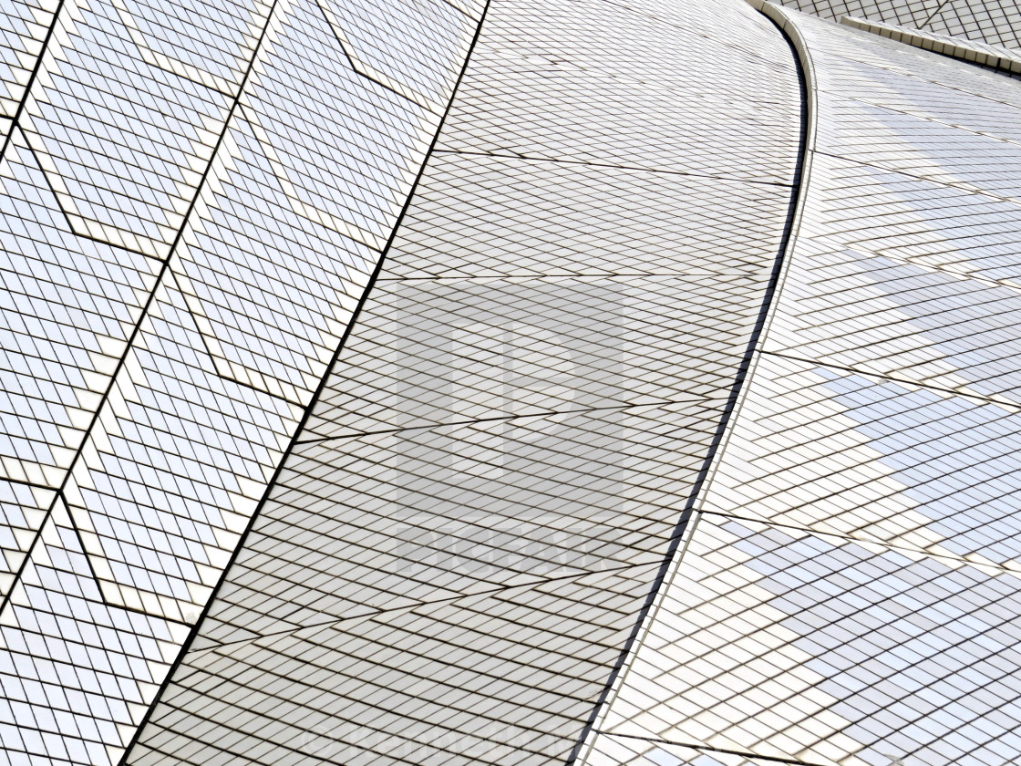 """Sydney Opera House tiled roof"" stock image"