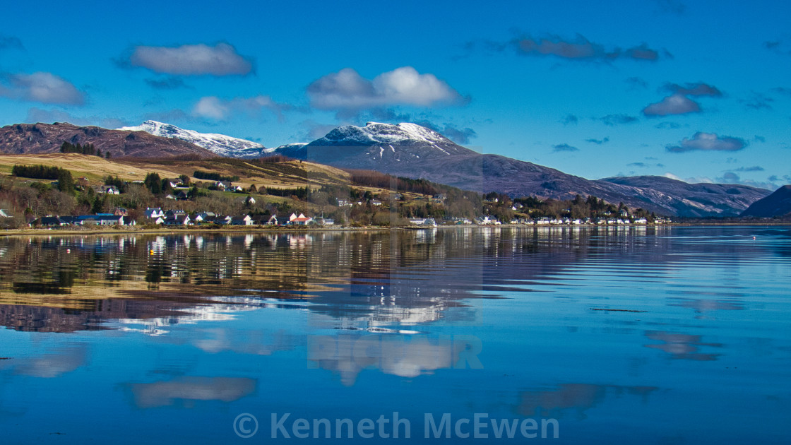 """Lochcarron in the Scottish Highlands"" stock image"
