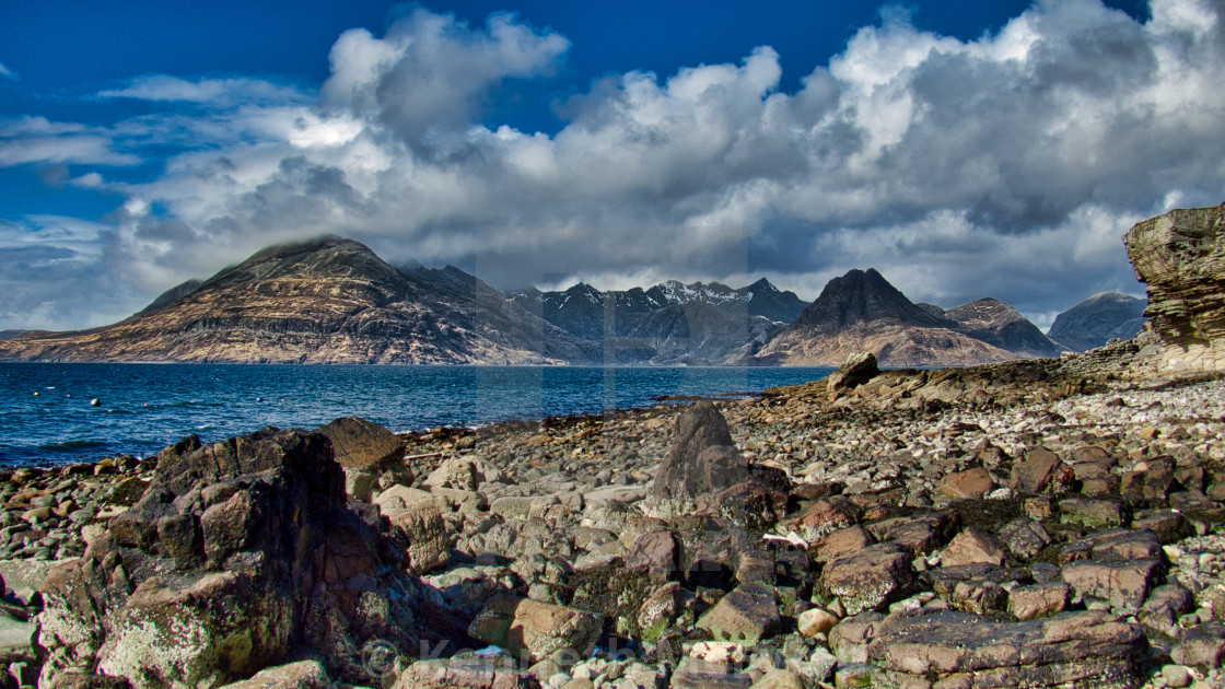 """The Cuillins from Elgol"" stock image"