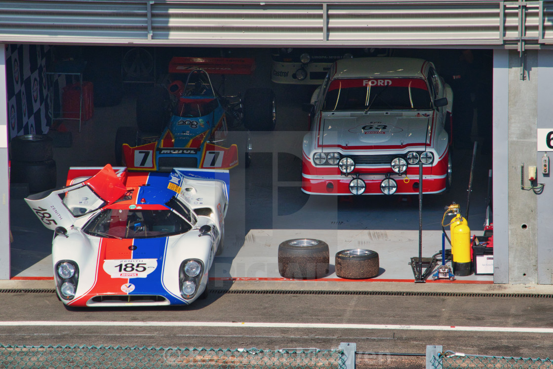 """Garage at the Spa Classic"" stock image"