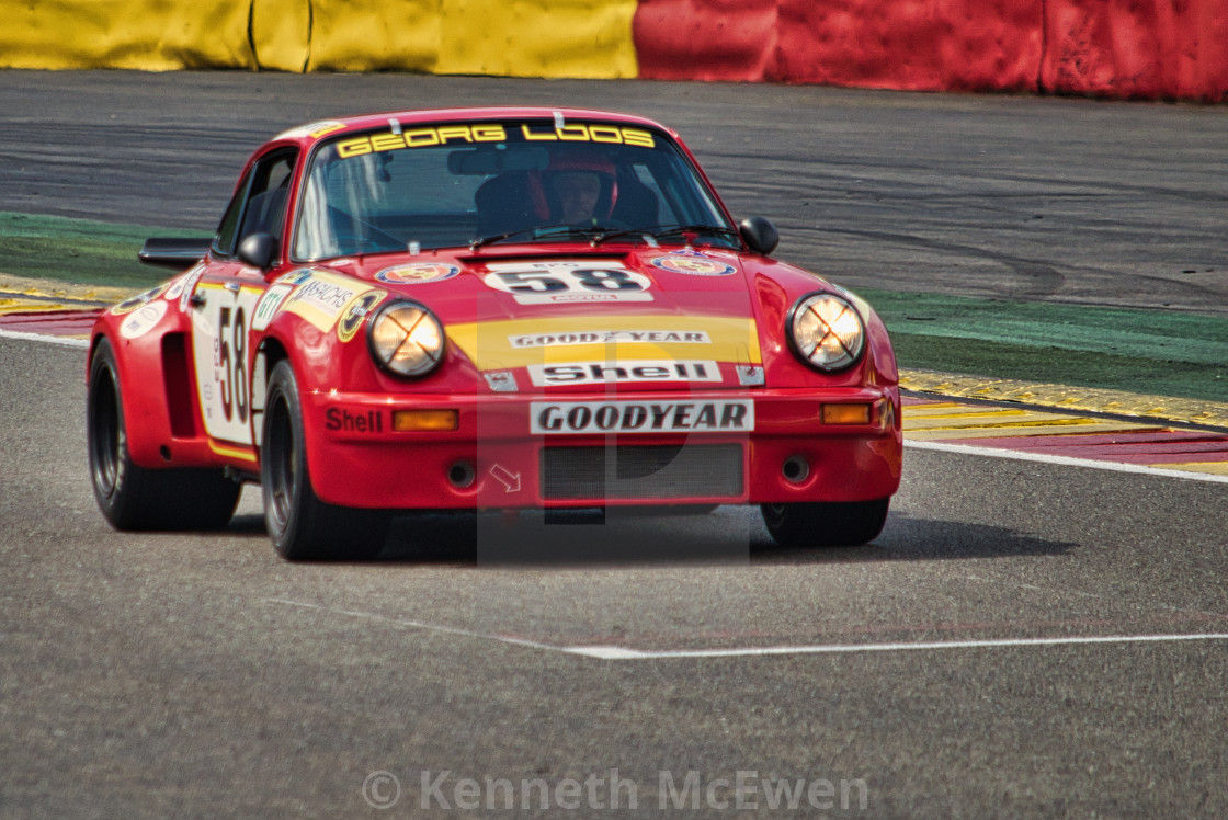 """""""Porsch 911 at the Spa Classic"""" stock image"""