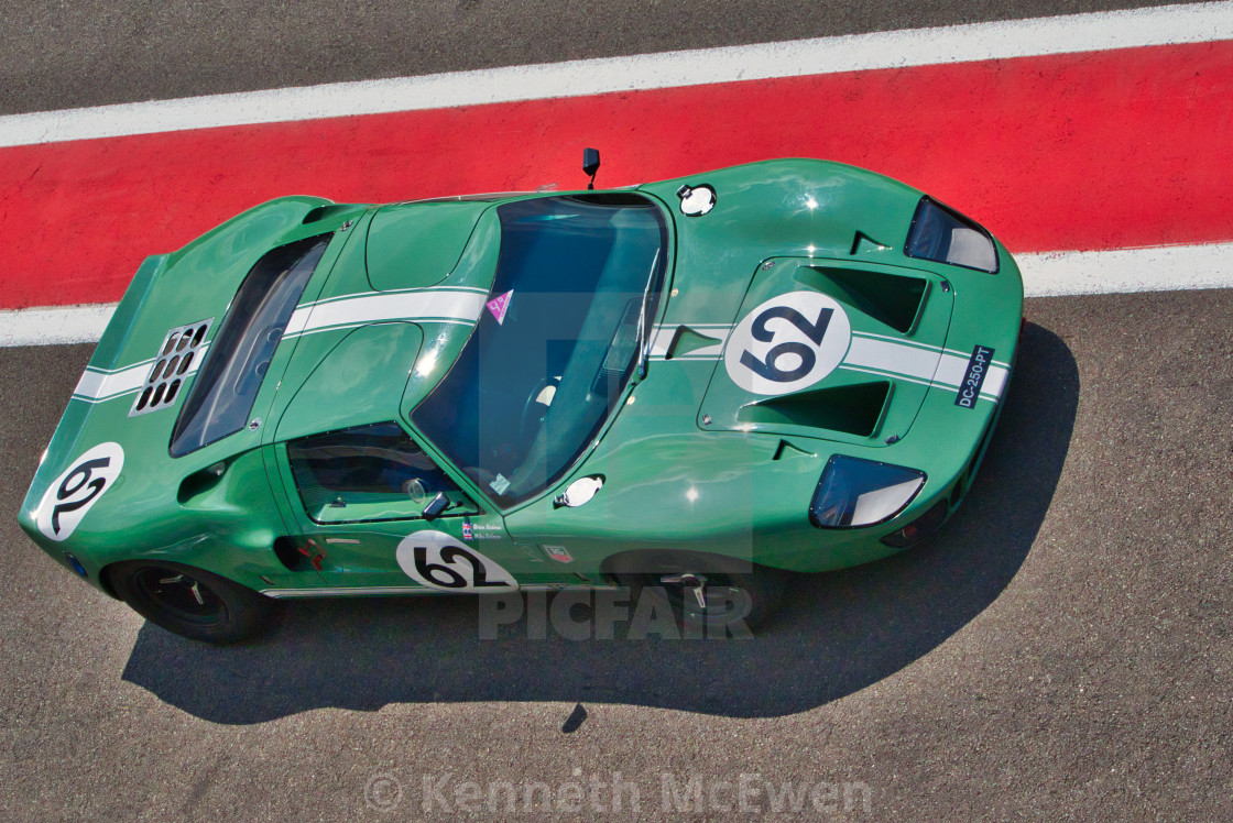 """Ford GT40 at the Spa Classic"" stock image"