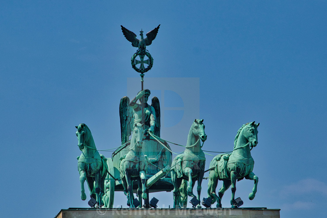 """The Quadriga on Brandenburg Gate"" stock image"