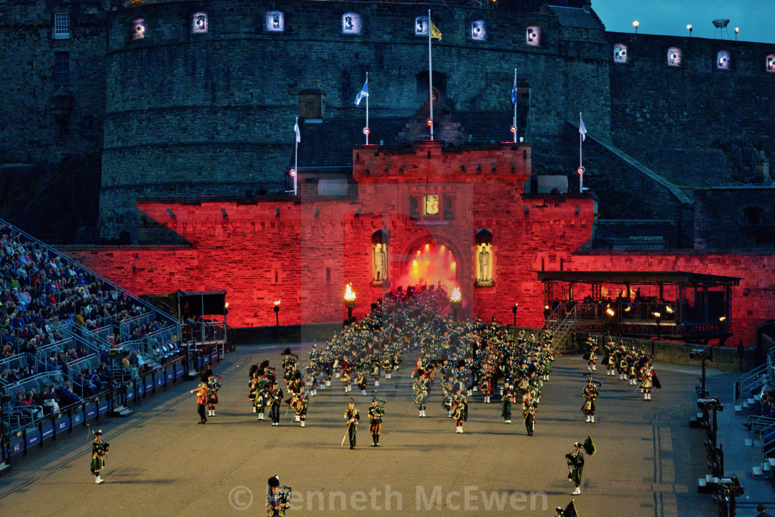 """""""Pipes and Drums at the Tattoo"""" stock image"""