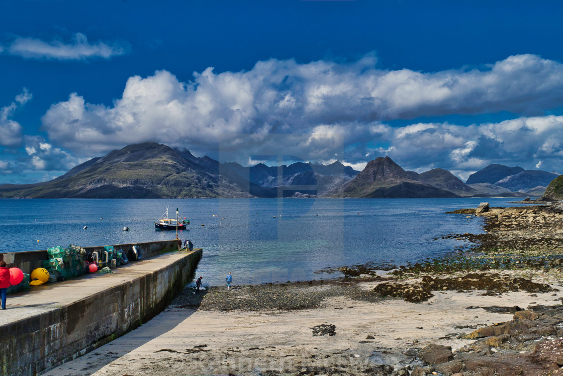 """""""The Cuillins viewed from Elgol"""" stock image"""