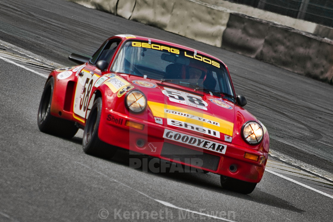 """Porsche racing at Spa Classic"" stock image"