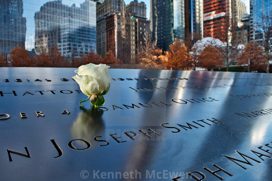 """The 9/11 Memorial"" stock image"