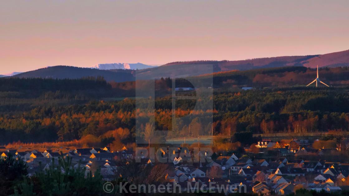 """Lochnagar in the distance"" stock image"