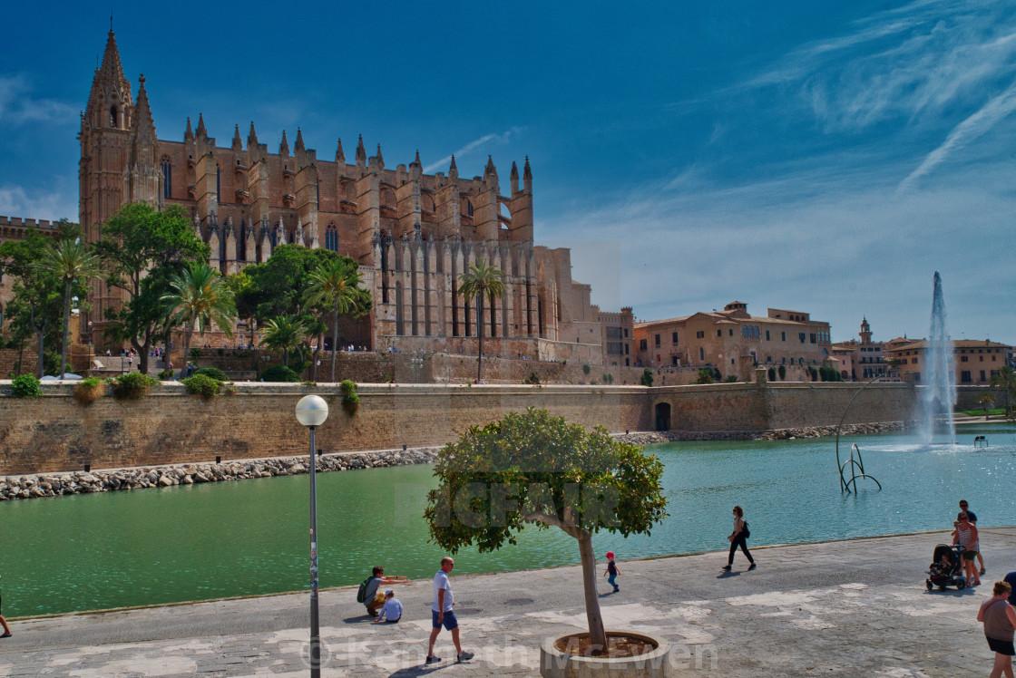 """""""La Seu cathedral in Palma de Mallorca"""" stock image"""