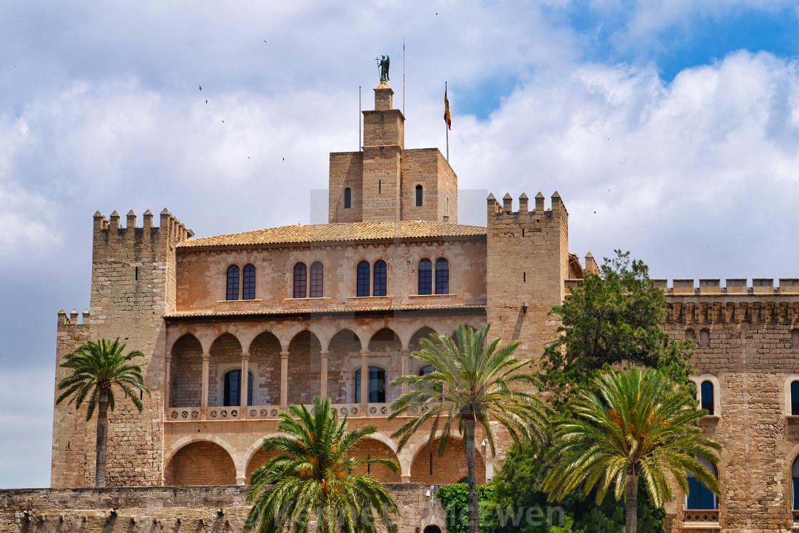 """Royal Palace of La Almudaina"" stock image"