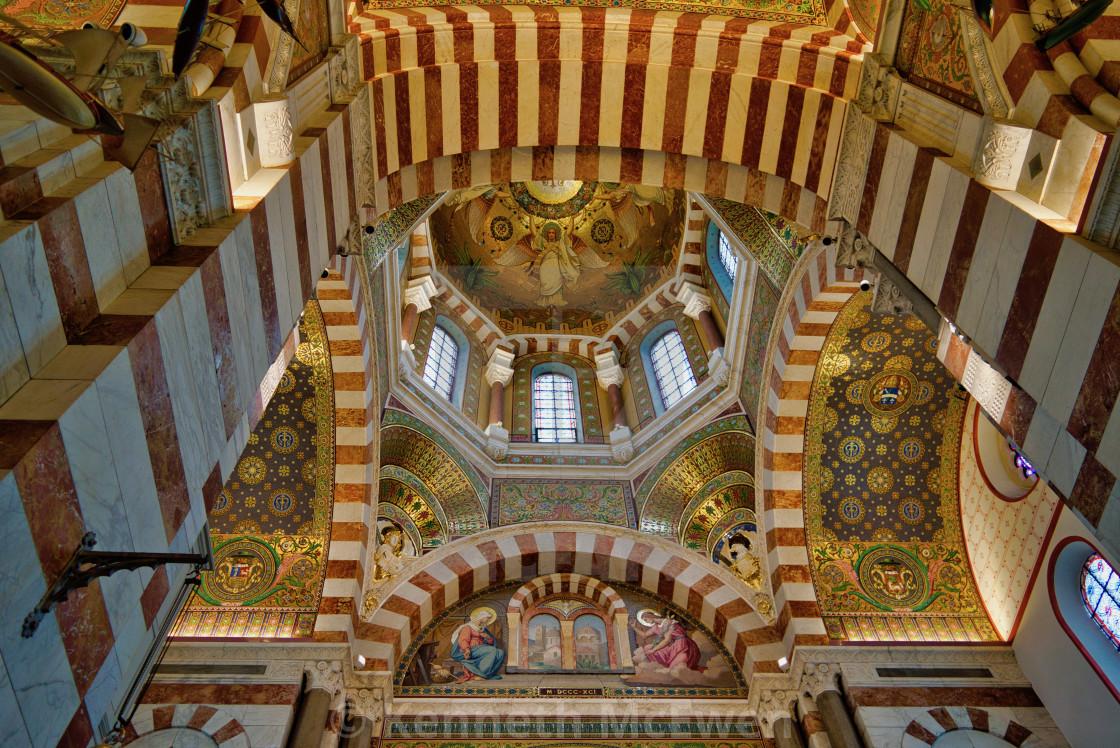 """Notre Dame de la Garde, Marseille"" stock image"