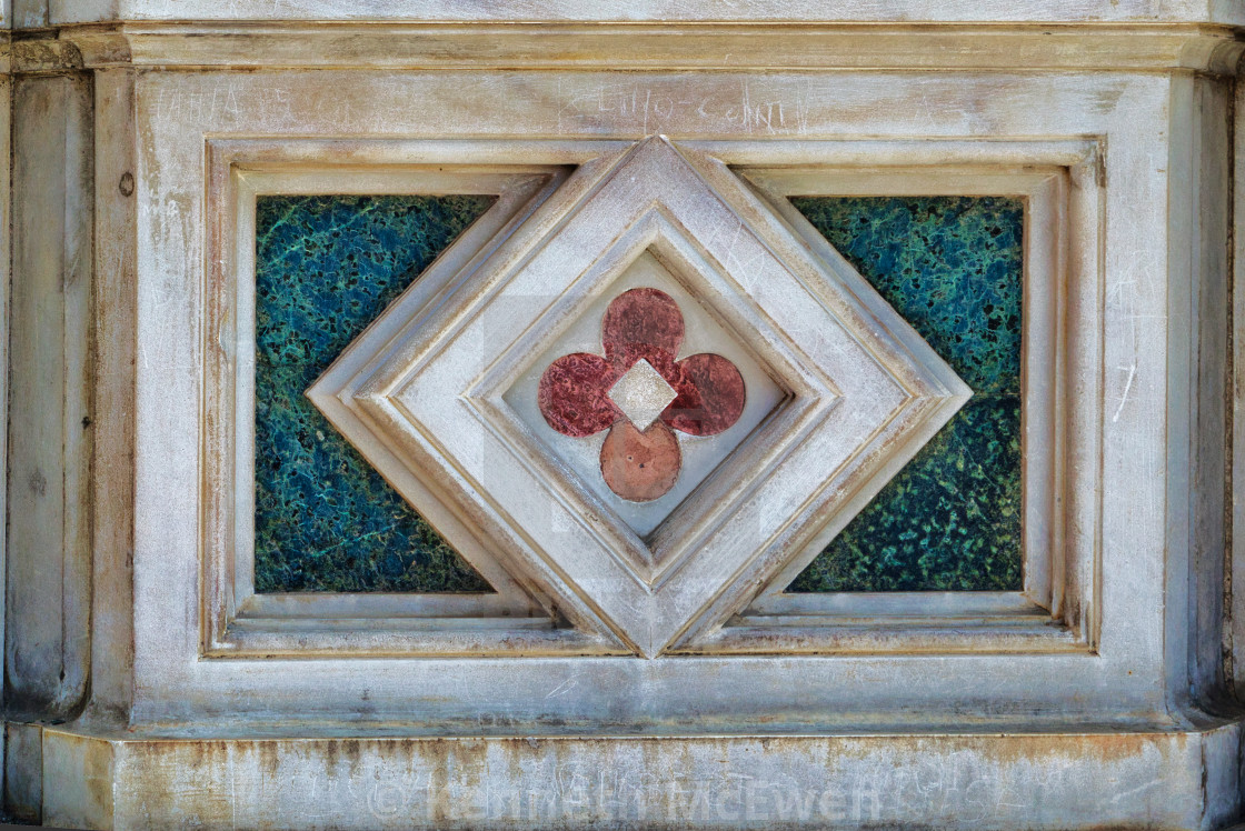 """""""Marble detail on Santa Maria del Fiore, Florence"""" stock image"""