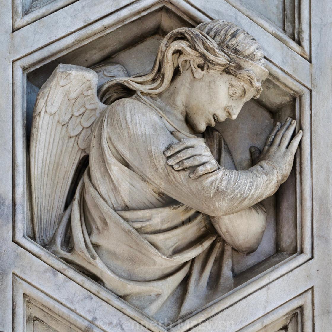 """Angel on Santa Maria del Fiore, Florence"" stock image"