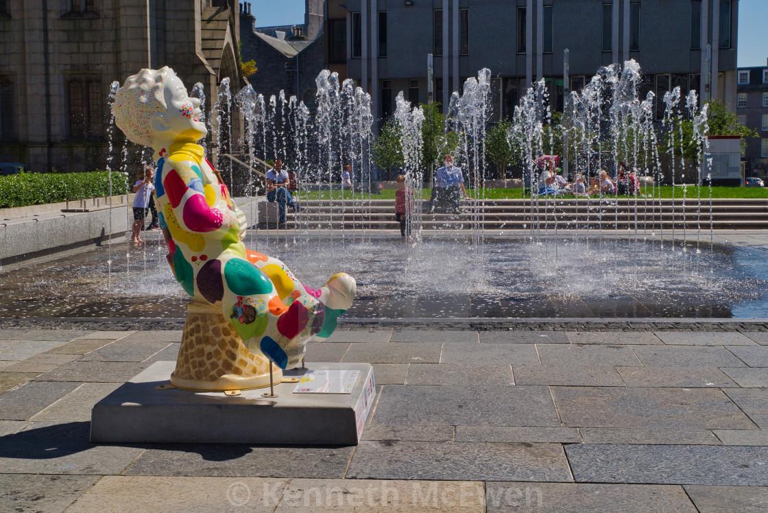 """Aberdeen fountain"" stock image"