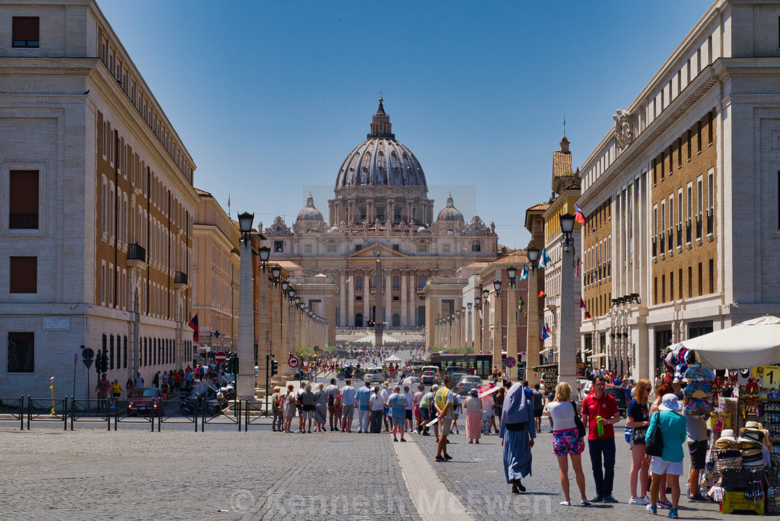 """""""St Peter's Basilica in the Vatican"""" stock image"""