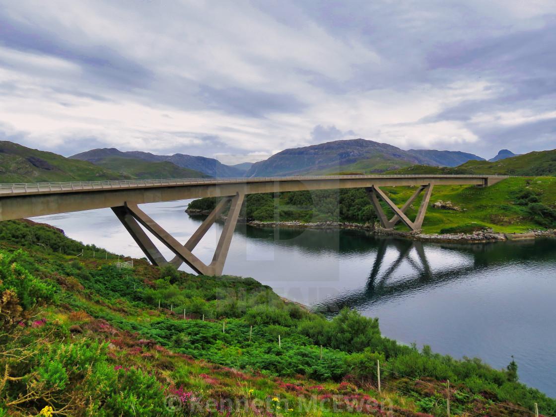 """Kylesku Bridge"" stock image"