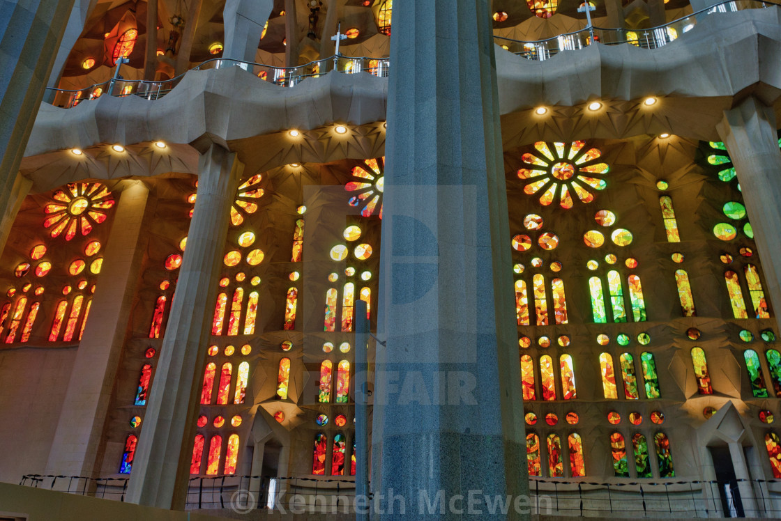 """""""Basílica de la Sagrada Família"""" stock image"""