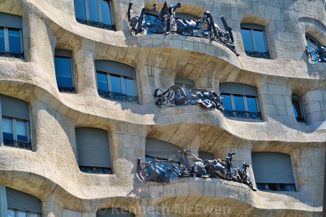 """Casa Mila, Barcelona"" stock image"