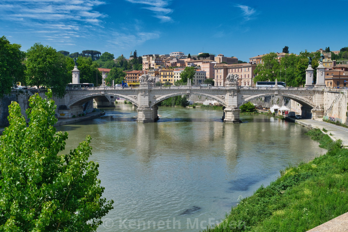 """Ponte Vittorio Emanuelle II, Rome"" stock image"
