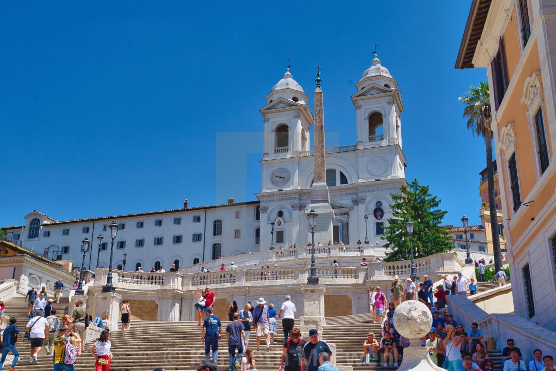 """Spanish Steps, Rome"" stock image"