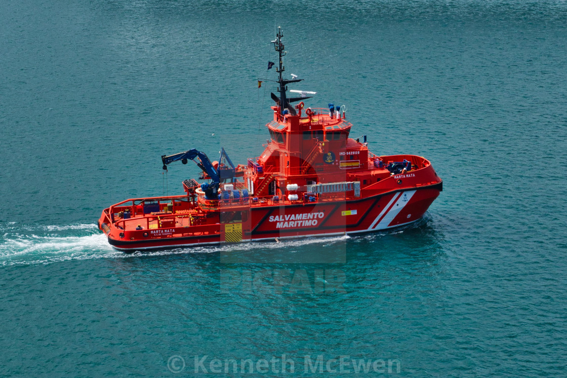 """Spanish maritime rescue vessel"" stock image"