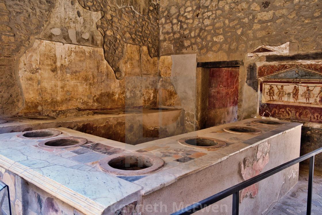 """Roman fast-food shop in Pompeii"" stock image"